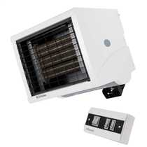 6kW Single or Three Phase Remote Controlled Commercial Fan Heater White