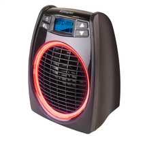 2kW Upright Fan Heaters Black
