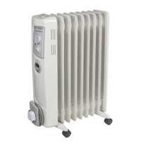 2kW Oil Filled Radiator with Timer White