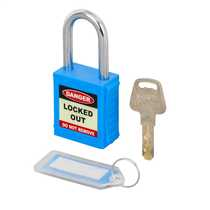 Blue LOTO Safety Padlock (Blister Packed)