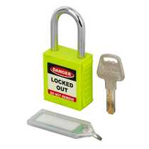 Green LOTO Safety Padlock (Blister Packed)