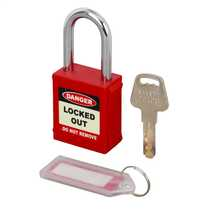 Red LOTO Safety Padlock (Blister Packed)