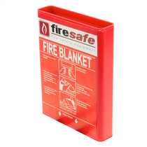 1m x 1m Hard Pack Fire Blanket Red