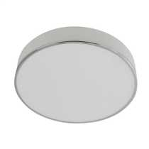 Profile Round Flush Bathroom Ceiling Light Chrome