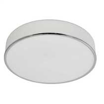 Low Energy Profile Flush Bathroom Ceiling Light Chrome