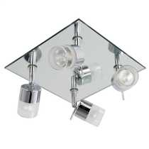 Ocean 4 Flush Bathroom Spot Light Chrome