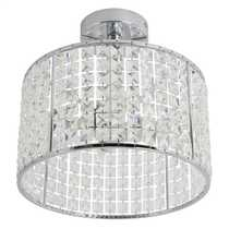 Pearl Semi Flush 4 Bathroom Light Crystal and Chrome