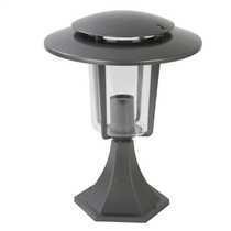 Laguna Outdoor Pillar Lantern Gun Metal