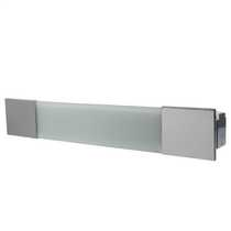 Low Energy Bathroom Over Mirror Light with Shaver Socket Chrome