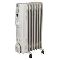 1.5kW Oil Filled Column Radiator with Timer White