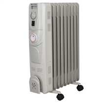2kW Oil Filled Column Radiator with Timer White