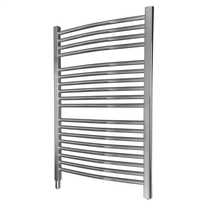 350W Fluid Filled Ladder Towel Rail Chrome
