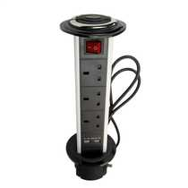 13A Tower Pop Up 3 x Sockets and 2 x USB Outlets
