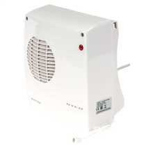 2kW Downflow Fan Heater White
