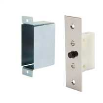 1A Flush Mounted Push to Break Door Switch with Back Box Chrome (Sold in 1's)