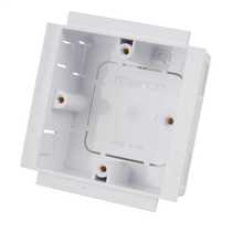 25mm 1 Gang Socket Box for Power Posts White (Sold in 1's)