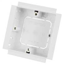 35mm 1 Gang Socket Box for Power Posts White (Sold in 1's)