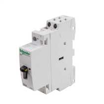 25A 230V 2 Pole 2 N/O Contactor with Manual Selector