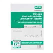 17th Edition 1st Amendment Continuation Schedules for Domestic Electrical Installation Certificates