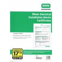 17th Edition Minor Electrical Works Certificates 3rd Amendment