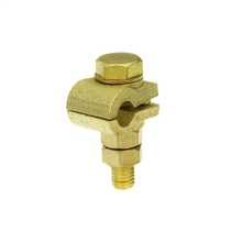 "Brass Clamp for 3/8"" Copper Bond Earth Rod"