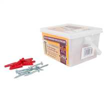 Trade Tub Red Rawl Plugs and 4.2 x 35mm Screws (Tub of 200)