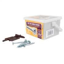Trade Tub Brown Rawl Plugs and 4.8 x 50mm Screws (Tub of 150)