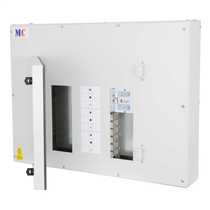 5 Way 250A Triple Pole and Neutral MCCB Panelboard Complete with 250A Triple Pole MCCB Incomer Fitted Proteus Grey