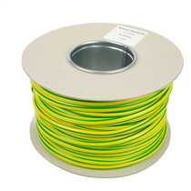 10.0mm PVC Green / Yellow Sleeving (100m Reel)