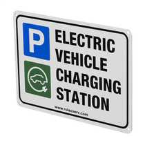 A4 Aluminum Electric Vehicle Charging Station Sign