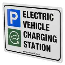 A5 Aluminum Electric Vehicle Charging Station Sign