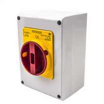 40 Amp 3 Pole Rotary Isolator with Red/Yellow Handle