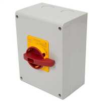 100 Amp 3 Pole Rotary Isolator with Red/Yellow Handle