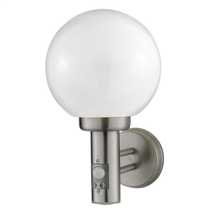 External Wall Light with PIR Brushed Chrome