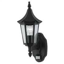 Bel-Aire External Light with PIR Black