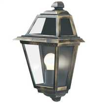 New Orleans IP44 Outdoor Wall Light Black and Gold