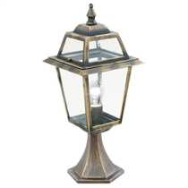 New Orleans IP44 Pedestal Black and Gold