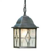 Genoa IP23 Outdoor Pendant Black and Silver