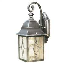 Genoa IP23 Outdoor Wall Down Lantern Black and Silver