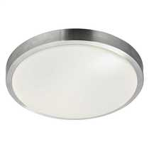 28W Round Light Fitting White Diffuser and Aluminium Trim IP44
