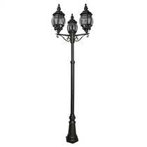 Bel Aire IP43 3 Light Outdoor Post Black