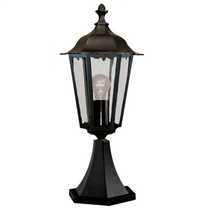 Alex IP44 Outdoor Pedestal Black