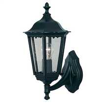 Alex IP44 Wall Lantern Black