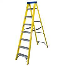 8 Tread Fibreglass Stepladder