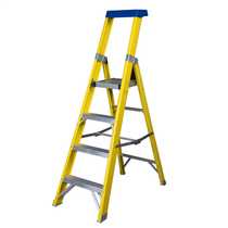 4 Tread Fibreglass Platform Stepladder