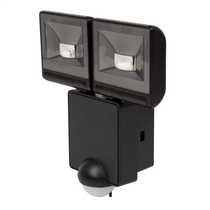 2 x 8W LED IP44 Energy Saving Floodlight complete with PIR Black