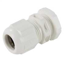 20mm IP68 Compression Gland with Locknut White (Pack of 10)